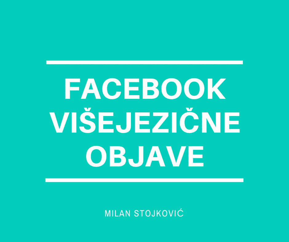 facebook višejezične objave
