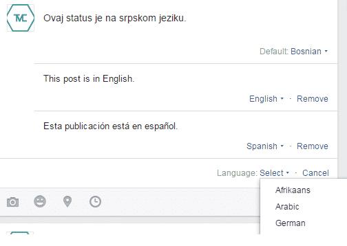 visejezicni facebook status