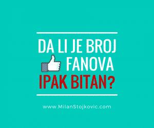 Da li je broj Facebook fanova ipak bitan? (VIDEO)