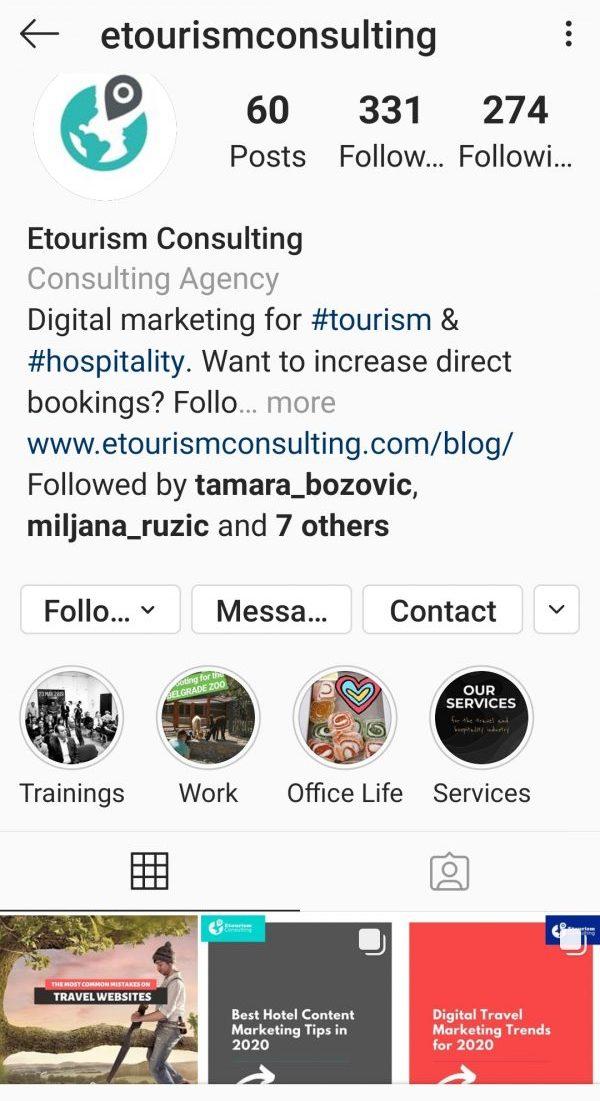 etourism consulting instagram nalog