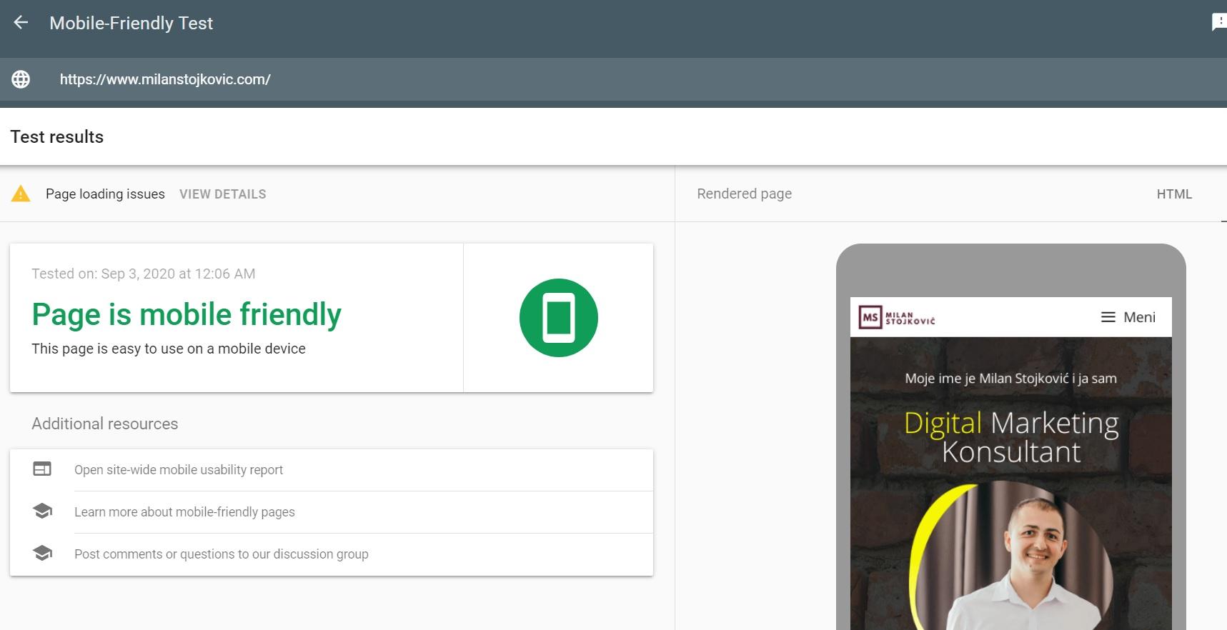 mobile friendly sajt